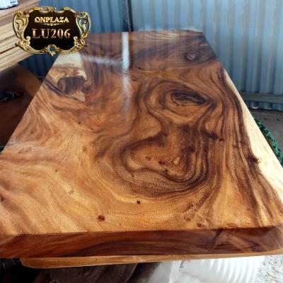 Mặt bàn gỗ thịt nguyên khối gỗ Me Tây cắt vuông LU206