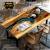 Mặt bàn nghệ thuật nguyên tấm gỗ Me Tây đỏ keo epoxy LU209