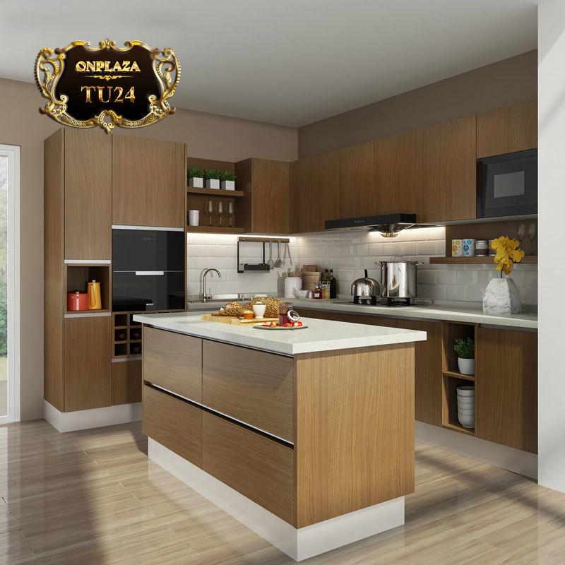 Tủ bếp thiết kế cao cấp sang trọng TU24