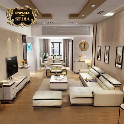 Bộ ghế sofa da cao cấp phong cách Châu âu hiện đại SF20