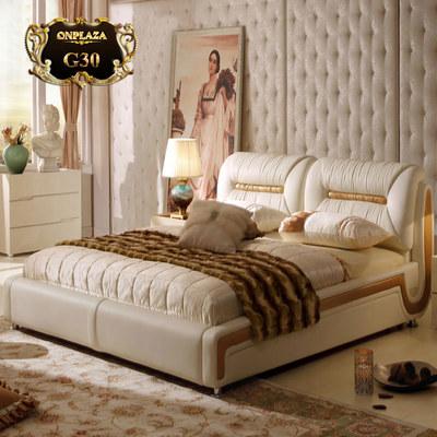 Giường ngủ bọc da cao cấp cho phòng ngủ hiện đại G30