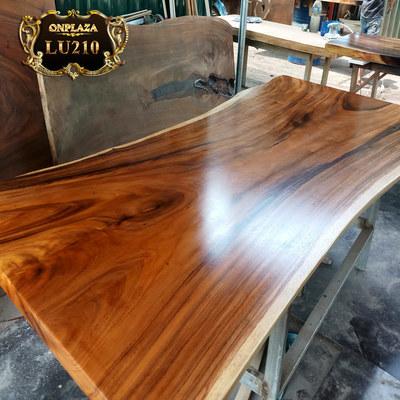 Mặt bàn ăn nguyên bìa gỗ me tây tự nhiên LU210