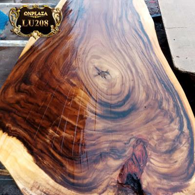 Mặt bàn ăn nguyên khối gỗ loại đại LU208