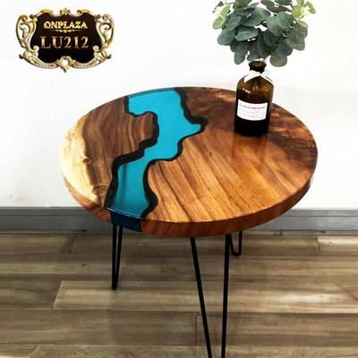 Mặt bàn tròn sơn thủy nguyên tấm cao cấp LU212