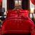 Bộ chăn ga gối cưới Song Hỉ CG002 màu đỏ dành cho cặp uyên ương
