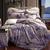 Bộ vỏ chăn ga gối cách tân CG074 nền màu tím lãng mạn