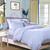 Bộ chăn ga gối đệm CG026 màu xanh họa tiết chấm bi