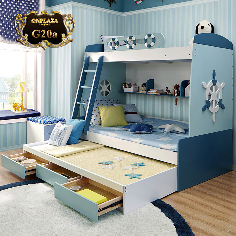 Giường tầng trẻ em đa năng phong cách chiếc thuyền ngoài xa G20