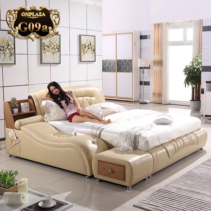 Giường ngủ đa năng cao cấp hiện đại G09, giường ngủ hiện đại 2017, giường đa năng giá rẻ