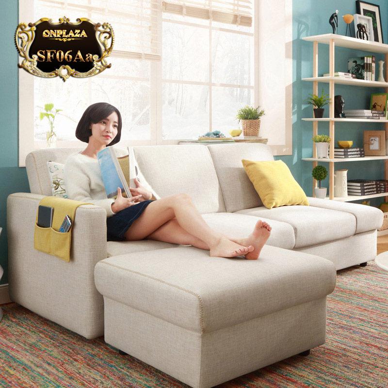 Bộ ghế sofa hiện đại 3 băng góc phải phong cách châu Âu SF06Aa-1