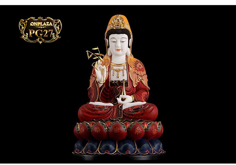 Tượng Sơn Màu Hán Bạch Ngọc Quán Thế Âm Bồ Tát