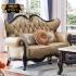 Bộ bàn ghế sofa da phong cách tân cổ điển BT83