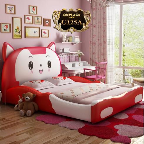 Bộ giường trẻ em bọc da hình chú cáo nhỏ G125