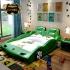 Giường trẻ em bọc da kiểu dáng siêu xe Lamborghini G128