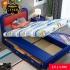 Giường ngủ bọc da hiện đại kiểu Spiderman (có ngăn kéo bên trái) G134