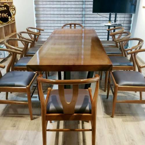 Mặt bàn ăn gỗ thịt nguyên khối gỗ Me Tây  LU206