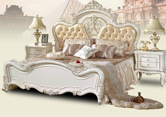 Giường ngủ phong cách tân cổ điển sắc trắng trang nhã