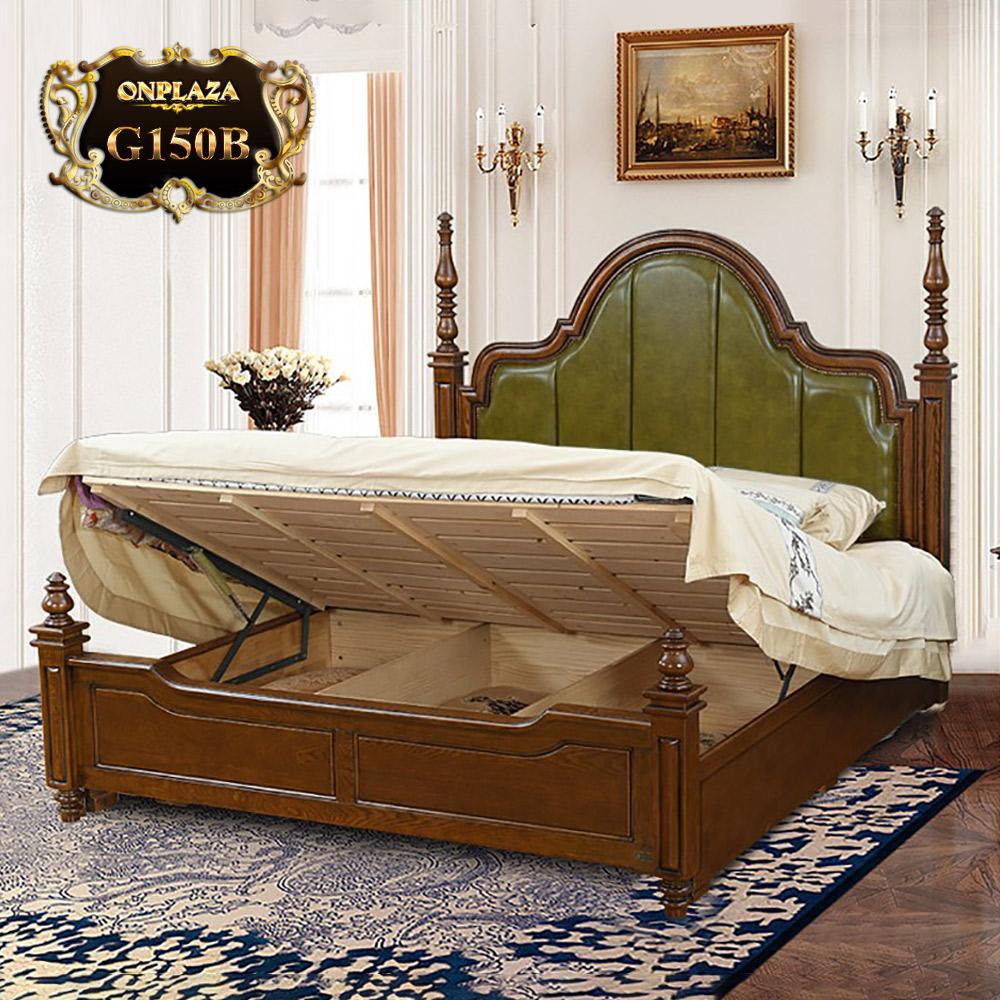 Giường gỗ phối da cao cấp phong cách Mỹ G150B