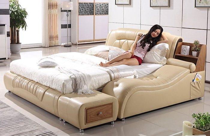 Giường ngủ đa năng được làm bằng gỗ tự nhiên đa năng hiện đại cao cấp