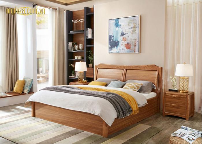 Mẫu giường ngủ hiện đại gỗ tự nhiên