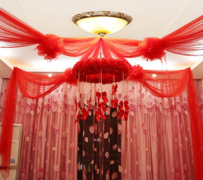 Màn cưới trang trí phòng ngủ cao cấp lấy ý tưởng từ hoa hồng