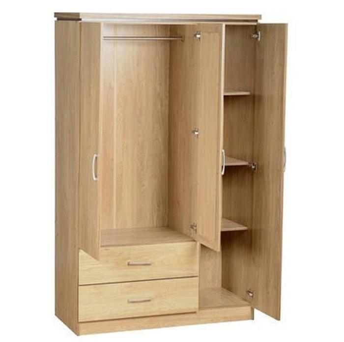 Hầu hết tủ quần áo cho sinh viên đều được làm bằng gỗ ép (Two Door Almarih)