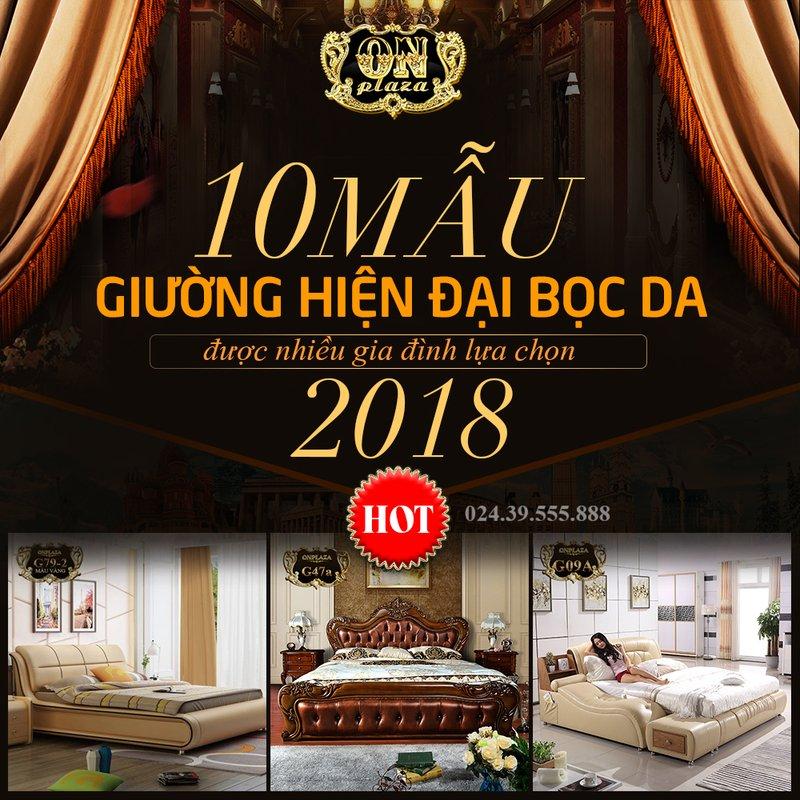 10 mẫu giường hiện đại bọc da được nhiều gia đình lựa chọn năm 2018