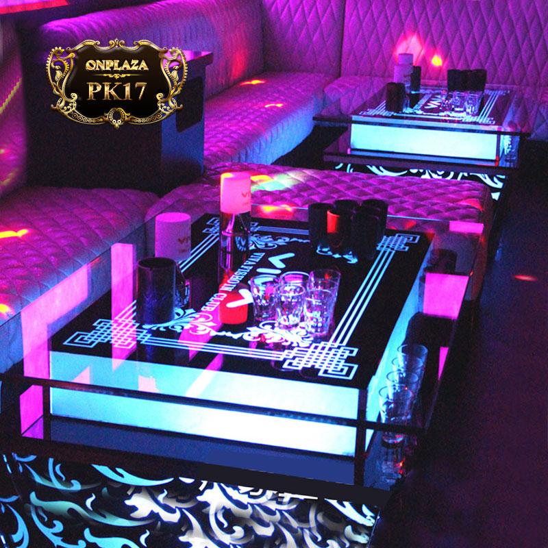 Bàn bar karaoke lắp đèn led sang trọng PK17