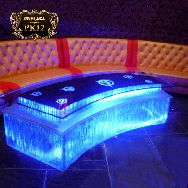 Bàn gắn đèn LED thiêt kế cho phòng karaoke cao cấp PK12