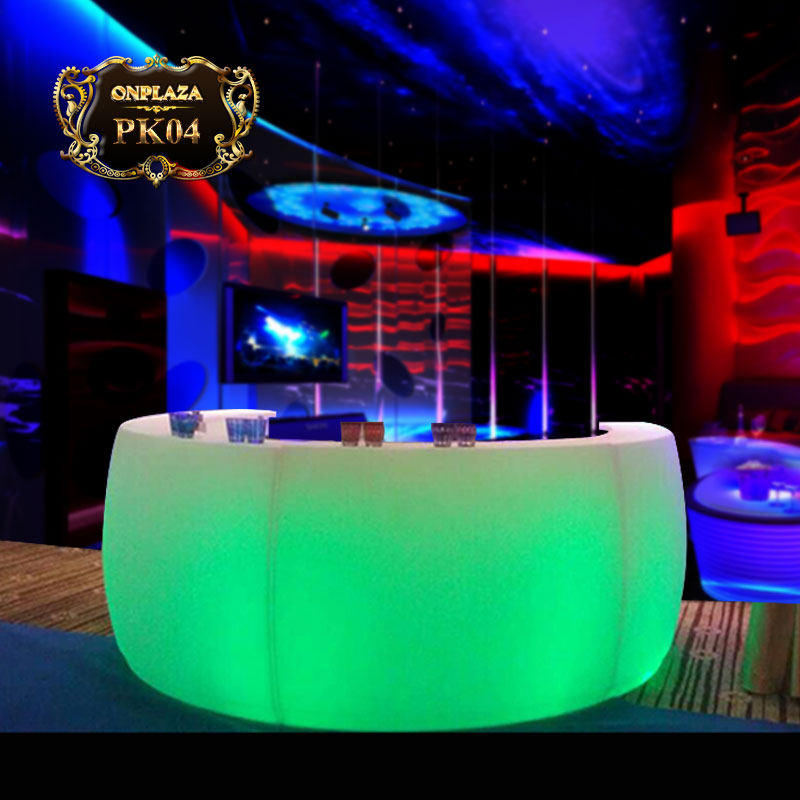 Bàn quầy bar tích hợp đèn LED đổi màu cao cấp PK04