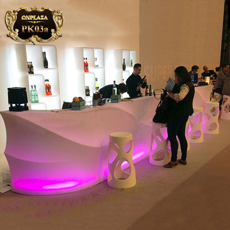 Bàn quầy bar đèn LED đổi màu cao cấp PK03a