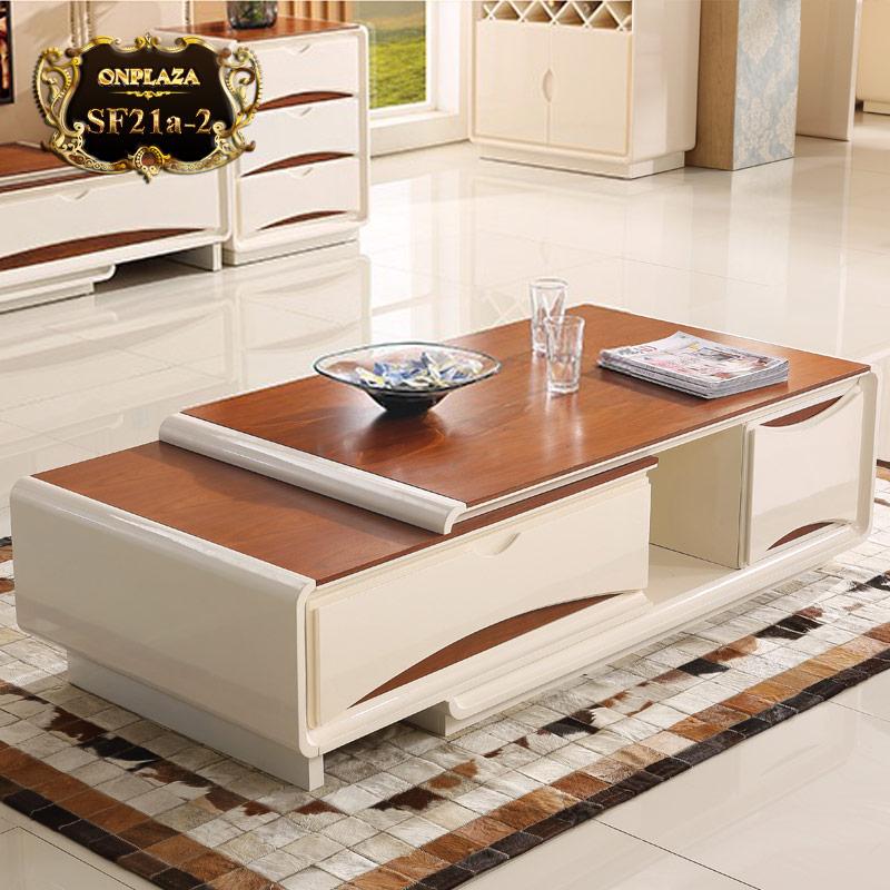 Bàn trà phòng khách bằng gỗ đẹp hiện đại SF21a-2