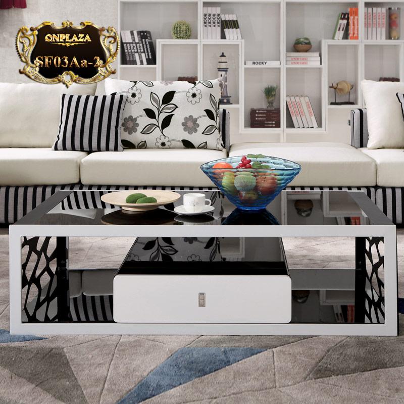Bàn trà sofa hiện đại mặt kính đẹp SF03Aa-2