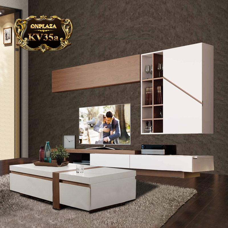 Bàn trà và bộ kệ tủ tivi cao cấp cho phòng khách KV35a