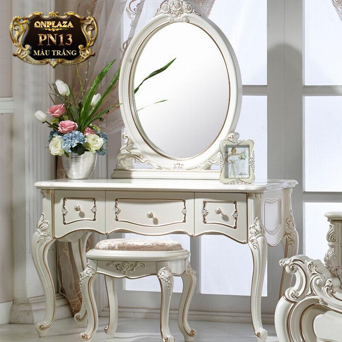 Bàn ghế trang điểm phong cách Châu Âu sang trọng PN13