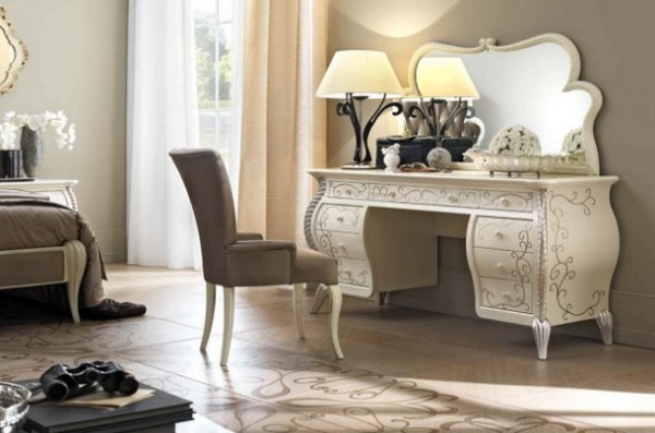 Bàn trang điểm là món nội thất không thể thiếu trong phòng ngủ mỗi gia đình