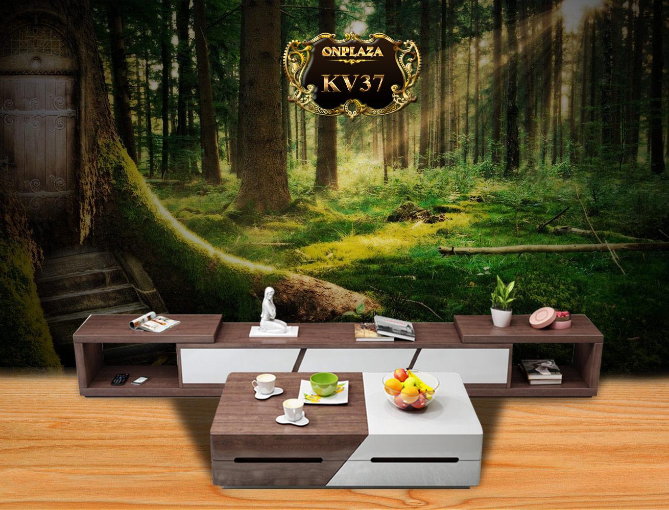 Banner bộ bàn trà + kệ tủ tivi thông minh đa năng KV37
