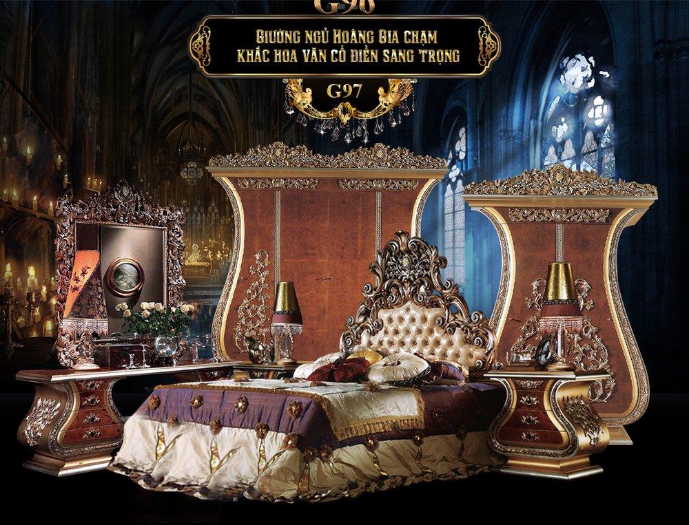 Banner giường ngủ hoàng gia cổ điển g97