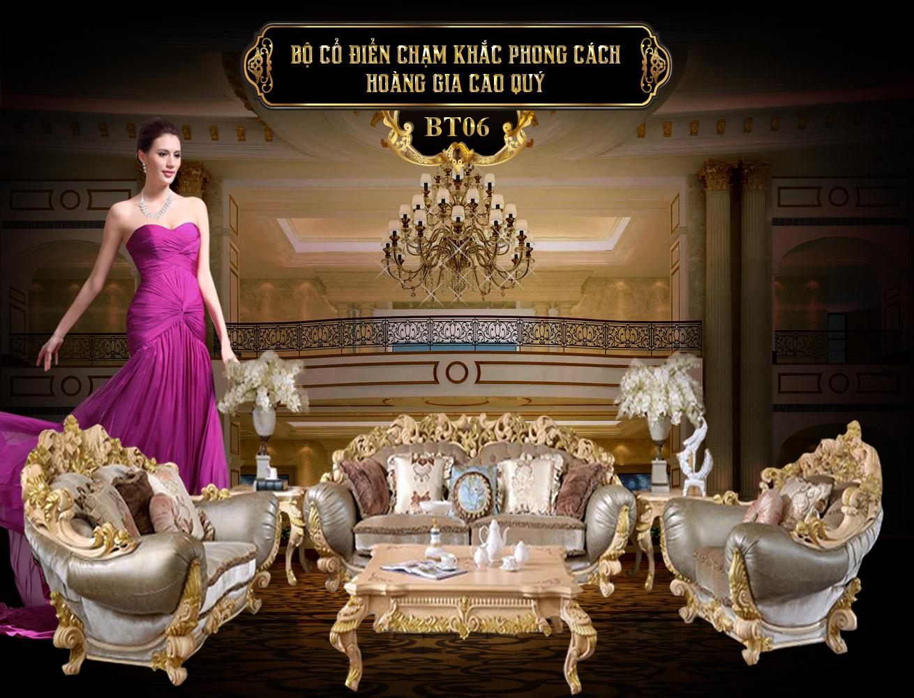 Bộ sưu tập bàn ghế cổ điển châu âu