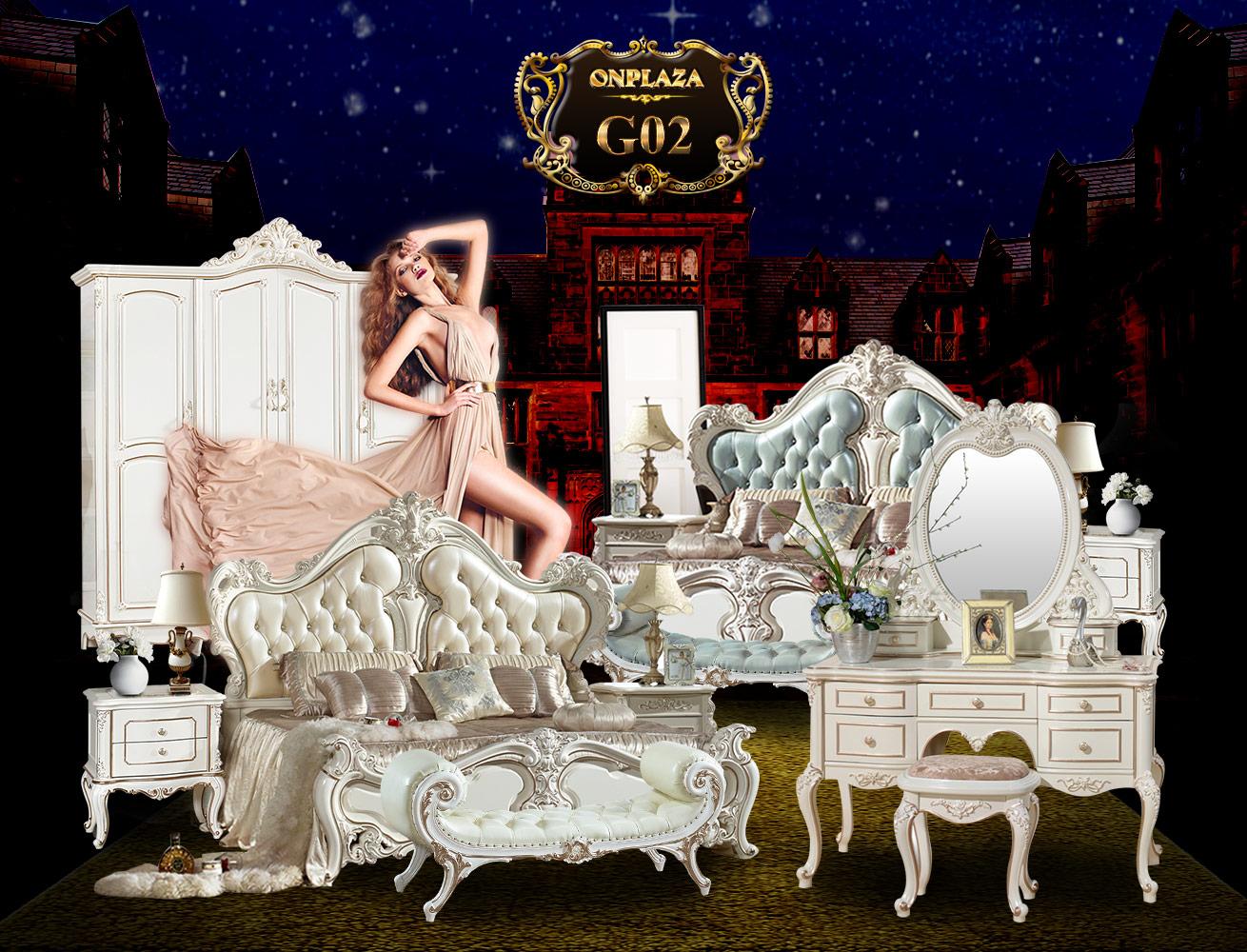 Giường ngủ tân cổ điển phong cách Pháp G02A-1, giường tân cổ điển giá rẻ tại Hà Nội