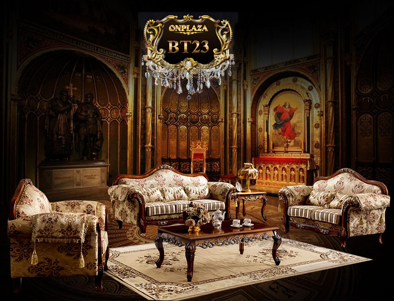Bộ sưu tập bàn ghế phòng khách cổ điển châu âu