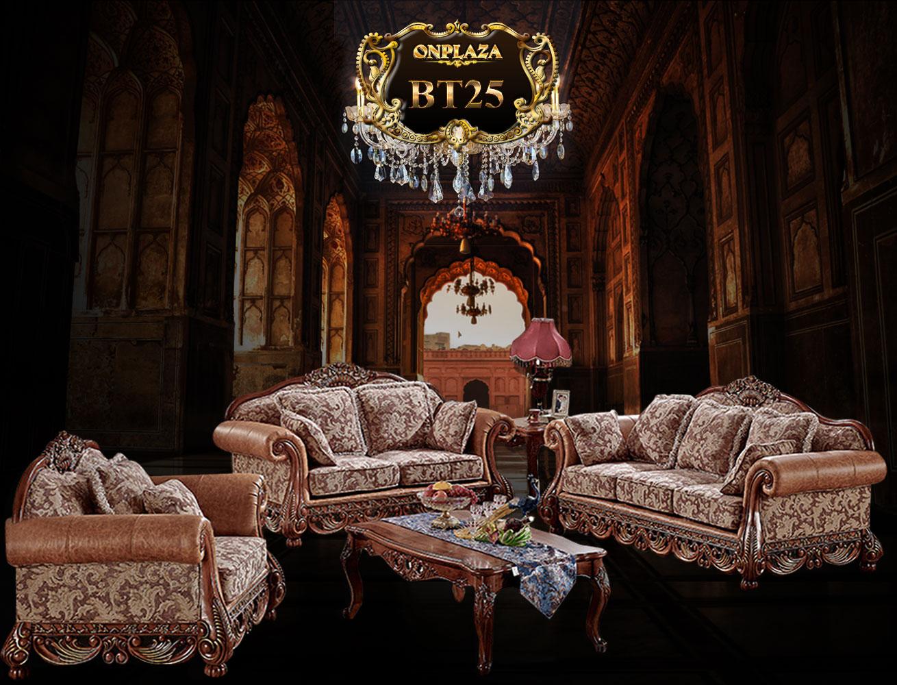 Banner bàn ghế phòng khách cổ điển, sofa cổ điển cao cấp