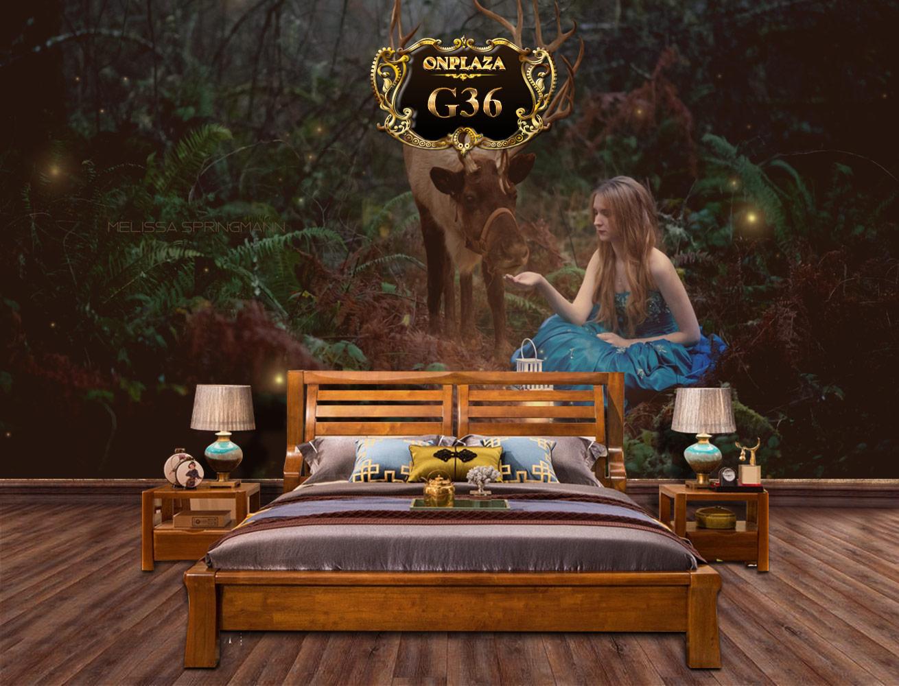 Banner mẫu giường ngủ hiện đại gỗ tự nhiên G36