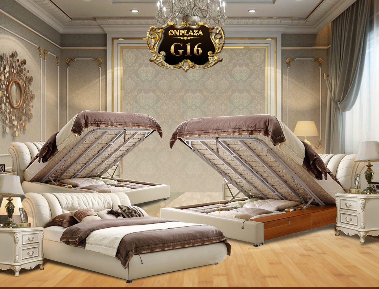Giường ngủ hiện đại phong cách Châu Âu G16 | Giường ngủ hiện đại đa năng 2017 | Kích thước giường ngủ hiện đại