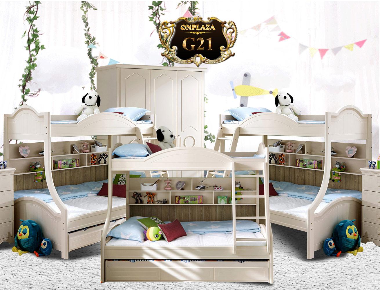 Giường tầng trẻ em đa năng cao cấp G21