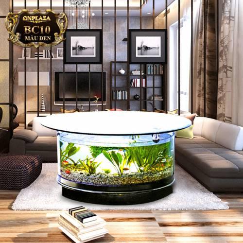 Bể cá bàn trà hình tròn nhập khẩu BC10-1-2