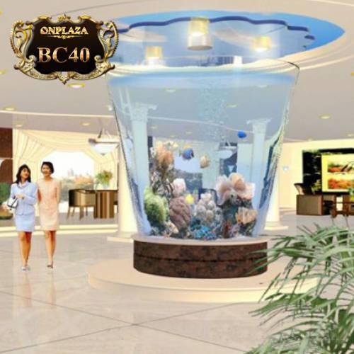 Bể cá cảnh hình trụ (thiết kế theo yêu cầu) BC40