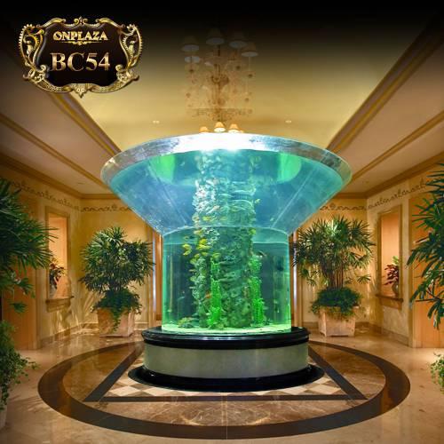 Thiết kế bể cá đại dương hình trụ cho sảnh rộng lớn BC54