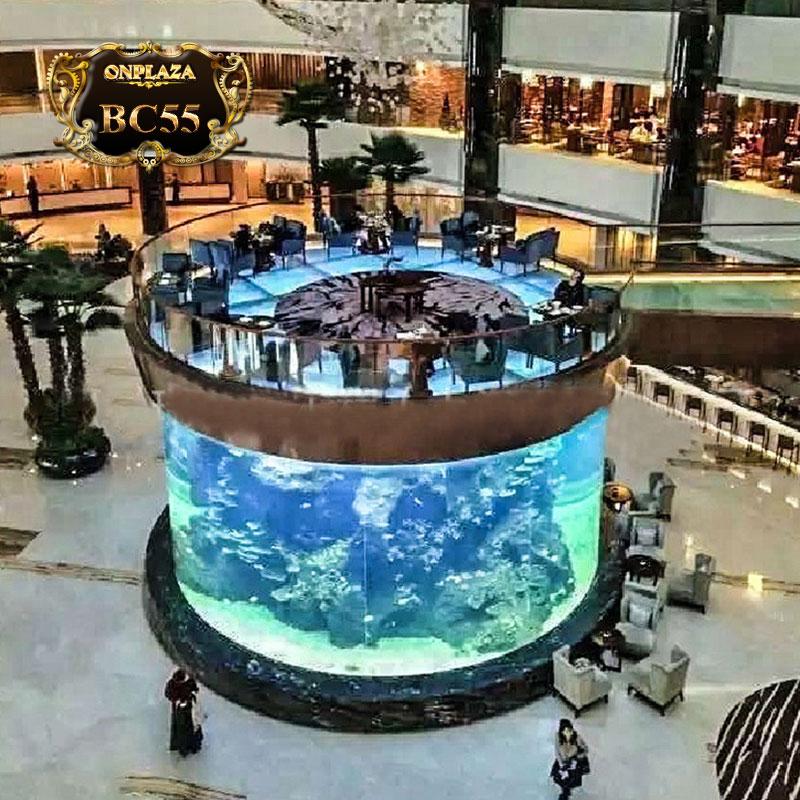 Bể cá đại dương hình trụ (thiết kế theo yêu cầu) BC55