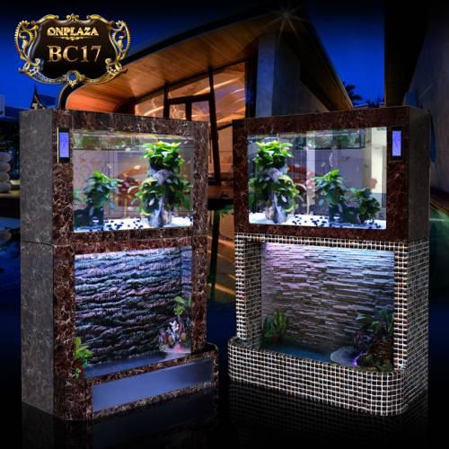 Bể cá thủy sinh 2 tầng chân khảm đá cao cấp BC17-1-2